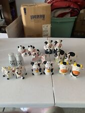 Lot Of 8 Cow Salt And Pepper Shaker Sets