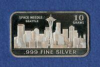 "10 Gram of .999 Fine Silver Bars /"" Space Needle /"""