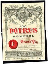 POMEROL 1ER GCC VIEILLE ETIQUETTE CHATEAU PETRUS 2003 6 L RARE  §06/03/17