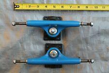 """TRACKER SXTRACK Blue Black 80's 9.25"""" Wide Axle Skateboard TRUCKS - Set of 2"""
