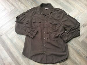 Craghoppers Nosilife Insect Repel Brown L/sleeve Shirt Size Large Little Used