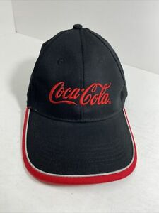 Coca Cola Coke Adjustable Embroidered Hat Black And Red Baseball Cap Logo