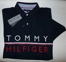 NWT Mens Tommy Hilfiger Performance Polo Shirt~SLIM FIT~NAVY~LRG