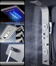 Stainless Steel Shower Panel Tower System LED Rainfall Waterfall Shower Body Jet