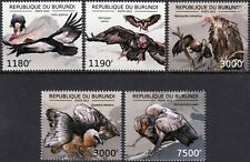 VULTURES of the World / Scavenging Birds of Prey / Bird Stamp Set (2012 Burundi)