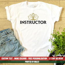 Ladies Yoga Instructor T Shirt Personal Trainer Peace Mat Birthday Gift Top
