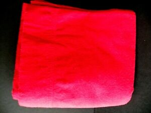CHARTER CLUB Flannel FULL Red Cotton Sheet