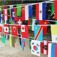32 Countries String Flag 25M International World Bar Party Banner Bunting Cheer