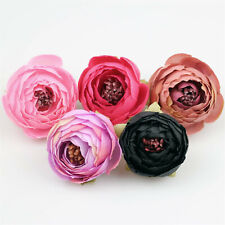 "100Pc 2"" Artificial 3D Flower Head Craft Fake Camelliae Wedding Home Party Decor"