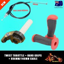 TWIST THROTTLE CABLE FREE RED Grips Dirt Pit bike atomik pitpro lei tdr orion