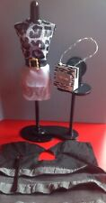 Dressed Harumika Mannequin with Display and Matching Handbag Black + Clothes