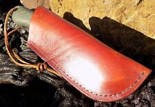 Leather Belt Sheath. for Bahco Laplander Bushcraft - Pruning, Folding Saw. TAN