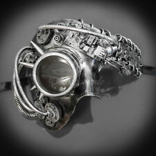 Steampunk Phantom Theater Masquerade Mask for Men - Silver M39146