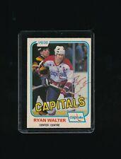 1981 OPC HOCKEY #352 RYAN WALTER signed autograph Capitals o pee chee