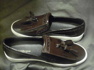 Michael Kors Collection Rare Shoes Real Patent Leather Tassels Burgundy, Size 6