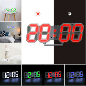Raguso LCD Digital Table Car Dashboard Desk Electronic Clock Easy-to-read Date Time Calendar Display Portable Clock LCD Digital Table Car Dashboard Desk Electronic Clock Black