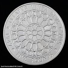 2007 REINA ISABEL II & PRÍNCIPE FELIPE Diamante Boda Cinco Libra Prueba Moneda