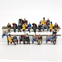 P4803 24pcs All Seated Figures O scale 1:48 Painted People Model Railway NEW