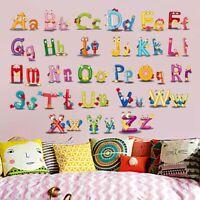 Alphabet ABC Wandsticker Wandtattoo Kinder Aufkleber Buchstaben Wandaufklebe EZ