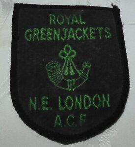 FINE ROYAL GREENJACKETS MILITARY PATCH NE LONDON ACF BADGE