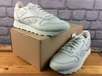 REEBOK LADIES UK 5 EU 38 CLASSIC LEATHER TRAINERS MINT GREEN GREY RRP £75 M
