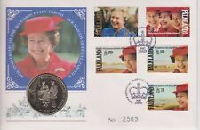 FALKLAND ISLANDS PNC COIN COVER 1992 QEII ACCESSION ANNIVERSARY 50P PENCE