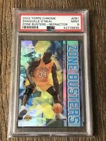 2002 Topp Chrome Shaquille O'neal Zone Busters Refractor PSA MINT 9