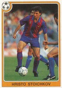 182 HRISTO STOICHKOV ⚽ ROOKIE BULGARIA FC.BARCELONA STICKER PANINI FUTBOL 92-93