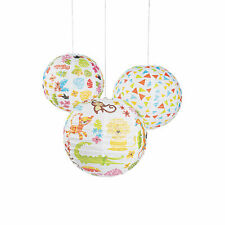 Jungle Baby Shower Hanging Paper Lanterns - Party Decor - 6 Pieces