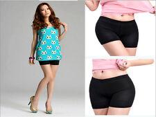 Women Lady Basic Pants Safety Shorts Leggings Yoga Seamless Basic Plain black