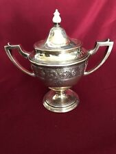ANTIQUE AMERICAN STERLING SILVER LEBKUECHER & CO SUGAR BOWL 462 GRAMS NO MONOGRA