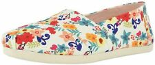 Toms Classic Natural Floral Print Womens Canvas Espadrilles Shoes