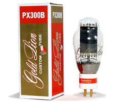 (2) Factory Platinum Matched Gold Lion PX300B 300B Triode tubes