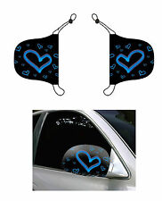 Blue Hearts, Car Mirror Cover, Auto Flag, Chroma Covers FPL