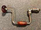 Vintage Fulton 10 inch ratcheting hand brace Drill Wooden Knob/handle EUC