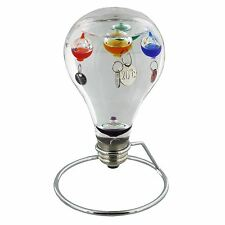 Light Bulb Shaped Galileo Thermometer on Metal Stand by Wm Widdop G148