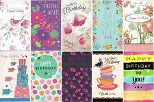 Pack of 10 Female Girl Lady Womens Birthday Cards JFB003