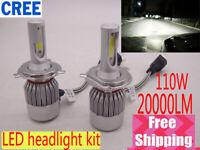 H4 Hi/Lo LED Lampadine de Faro Kit 110W 20000LM CREE Chip Bulbi Luci Xenon 6000K