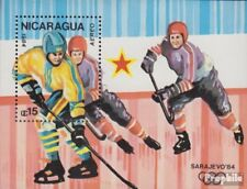 Nicaragua block155 unmounted mint / never hinged 1984 olympic. Winter Games ´84,