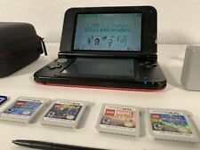 Nintendo 3DS XL Red LEGO Games Marvel Batman Case Charger Stylus SD Card Clean