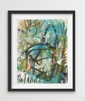 Bold Colorful Contemporary Small Original Abstract Painting Monkey on My Back