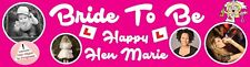 Hen Nite Party Banner Poster with photos Personalized to your needs 4 foot long