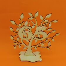 Geburtstag 65 Jahre Jubiläumsbaum aus Holz 16cm Geschenk Deko Hochzeit