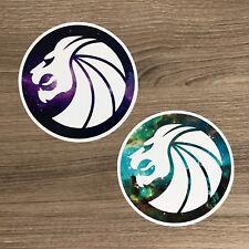 "Seven Lions Logo 4"" Wide Vinyl Sticker Set - Free Shipping"