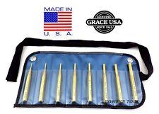 Grace Gunsmith Brass Pin Punch Set 8pc Gun Care Machinist Made in USA