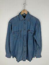 WRANGLER Camicia di JEANS Shirt Maglia Chemise Camisa Hemd Tg M Uomo Man