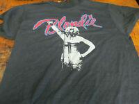 New Vtg Blondie Tour T-Shirt Authentic black 70s 80s usa size S-2XL