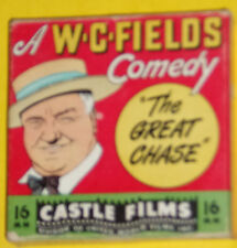 W. C. Fields – The Great Chase 1940s 16 mm Headline Edition Movie 4 Inch SEE!