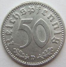 TOP! 50 REICHSPFENNIG 1943 D in VORZÜGLICH+++ !!!