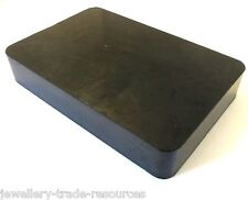 "JEWELLERS RUBBER DAPPING BENCH BLOCK 6"" X 4"" X 1"" JEWELLERY MAKING"